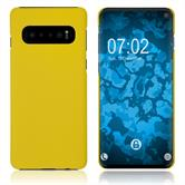 Hardcase Galaxy S10 rubberized yellow Cover