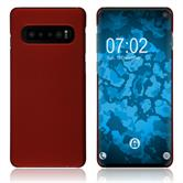 Silicone Case Galaxy S10 rubberized red Cover