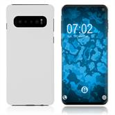 Hardcase Galaxy S10 rubberized white Cover
