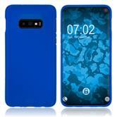 Coque en silicone Galaxy S10 Lite mate bleu Cover