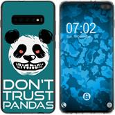 Samsung Galaxy S10 Plus Silicone Case Crazy Animals Panda M2