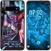 Samsung Galaxy S10 Plus Silicone Case Retro Wave M4