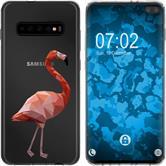 Samsung Galaxy S10 Plus Silicone Case vector animals M2