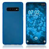Silicone Case Galaxy S10 Plus matt blue Cover