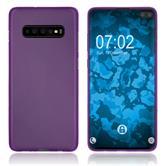 Silicone Case Galaxy S10 Plus matt purple Cover