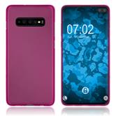 Silicone Case Galaxy S10 Plus matt hot pink Cover