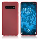 Silicone Case Galaxy S10 Plus matt red Cover