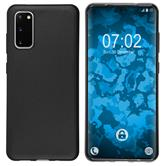 Coque en silicone Galaxy S20 mate noir Cover