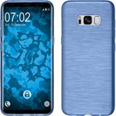 Silicone Case Galaxy S8 brushed blue + Flexible protective film