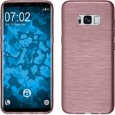 Silicone Case Galaxy S8 brushed pink + Flexible protective film
