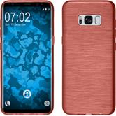 Silicone Case Galaxy S8 brushed red + Flexible protective film