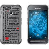 Samsung Galaxy Xcover 3 Silicone Case in Love M4