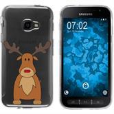 Samsung Galaxy Xcover 4 Silicone Case Christmas X Mas M3
