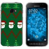 Samsung Galaxy Xcover 4 Coque en Silicone Noël X Mas M7