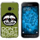 Samsung Galaxy Xcover 4 Silicone Case Crazy Animals sloth M3