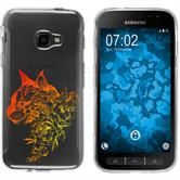 Samsung Galaxy Xcover 4 Silicone Case floral M2-2