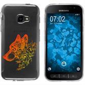 Samsung Galaxy Xcover 4 Silikon-Hülle Floral  M3-2