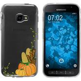 Samsung Galaxy Xcover 4 Silikon-Hülle Herbst  M5