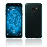 Silikon Hülle Galaxy A6 (2018) transparent türkis Case