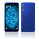 Silicone Case Galaxy A7 (2018) matt blue Cover