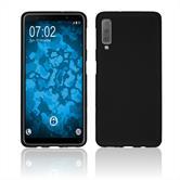 Silicone Case Galaxy A7 (2018) matt black Cover
