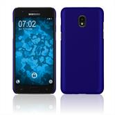 Hardcase Galaxy J3 (2018) rubberized blue Cover