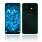 Silicone Case Galaxy S10 Lite transparent turquoise Cover