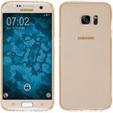 Silicone Case for Samsung Galaxy S7 Edge 360° Fullbody gold