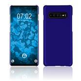 Hardcase Galaxy S10 Plus rubberized blue Cover