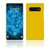 Hardcase Galaxy S10 Plus rubberized yellow Cover