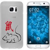 Samsung Galaxy S7 Edge Coque en Silicone Chinese Zodiac Motif 1