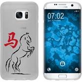 Samsung Galaxy S7 Edge Coque en Silicone Chinese Zodiac Motif 7