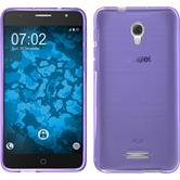 Silicone Case for Alcatel POP 4+ transparent purple
