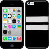 Silicone Case for Apple iPhone 5c Stripes black