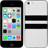 Silicone Case for Apple iPhone 5c Stripes white