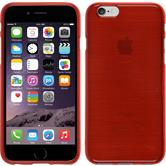 Silicone Case for Apple iPhone 6 brushed red