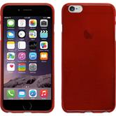 Silicone Case for Apple iPhone 6 Plus brushed red