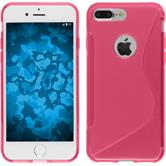 Silicone Case for Apple iPhone 7 Plus S-Style hot pink