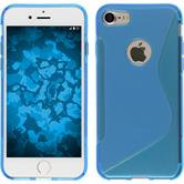 Silicone Case for Apple iPhone 7 S-Style blue