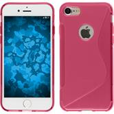 Silicone Case for Apple iPhone 7 S-Style hot pink