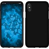 Silicone Case iPhone X matt black Case