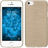 Silicone Case for Apple iPhone SE brushed gold