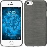 Silicone Case for Apple iPhone SE brushed silver