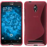 Silicone Case for Asus Zenfone Go (ZC500TG) S-Style hot pink