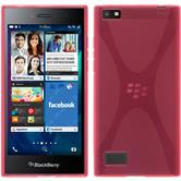 Silicone Case for BlackBerry Leap X-Style hot pink