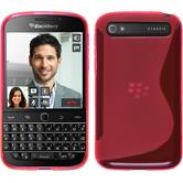 Silicone Case for BlackBerry Q20 S-Style hot pink