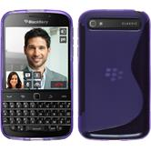 Silicone Case for BlackBerry Q20 S-Style purple