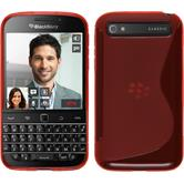 Silicone Case for BlackBerry Q20 S-Style red