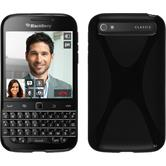 Silicone Case for BlackBerry Q20 X-Style black