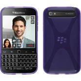 Silicone Case for BlackBerry Q20 X-Style purple